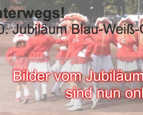 Die Garde beim Jubiläum von Blau-Weiß-Osdorf