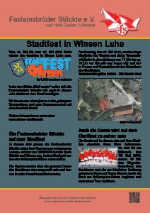 Faslamsbrüder Stöckte und Garde beim Winsener Stadtfest